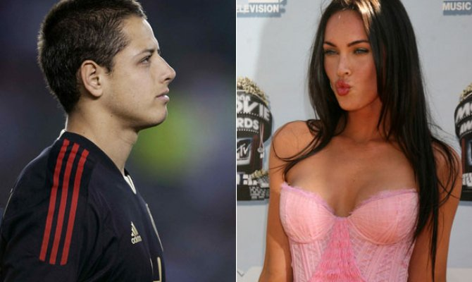 chicharito y camila sodi y megan fox
