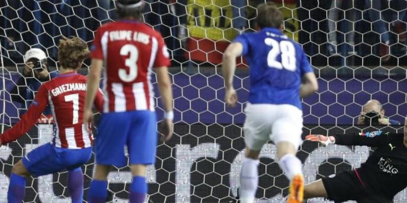 Champions: Flaca ventaja del Atlético de Madrid ante Leicester