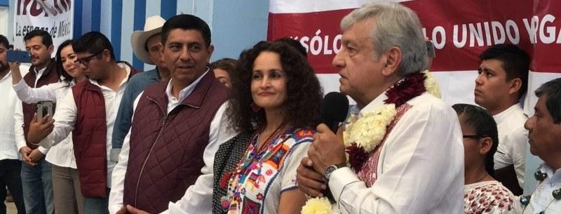 Susana Harp, coordinadora de Morena en Oaxaca, anuncia AMLO