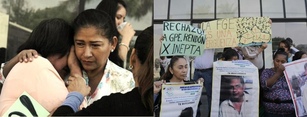 Diputados de Guerrero se burlan de víctimas de desaparición forzada
