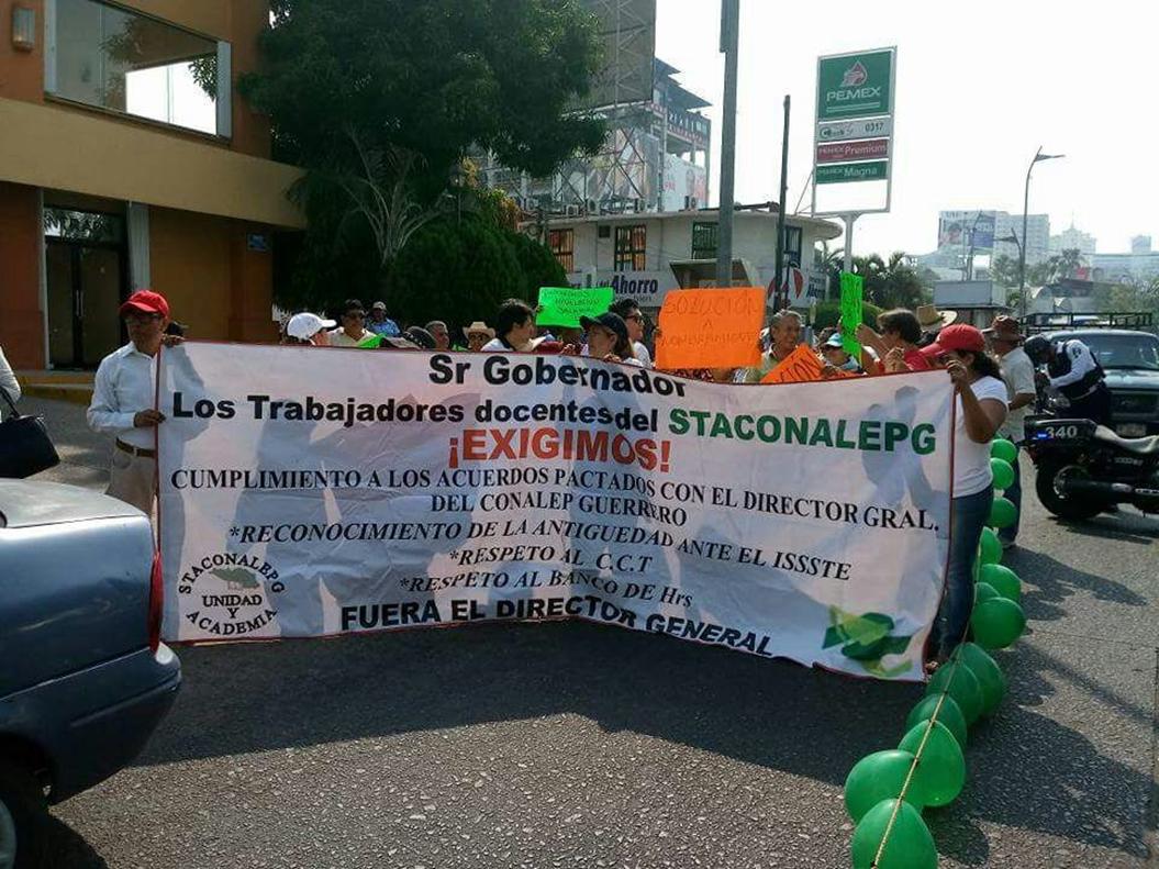 Guerrero: sindicato de Conalep denuncia violación de derechos 2