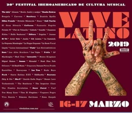 Cartel Vive Latino.