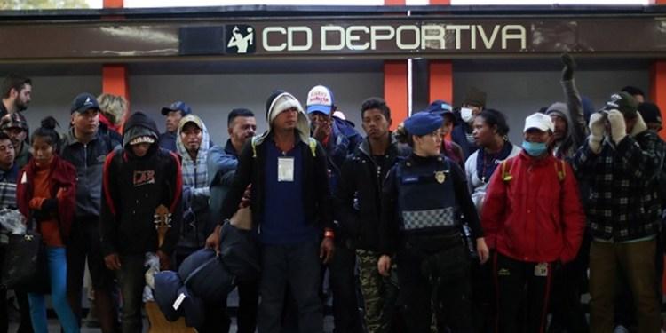 Así quedó deportivo Mixhuca tras albergar a Caravana Migrante 1