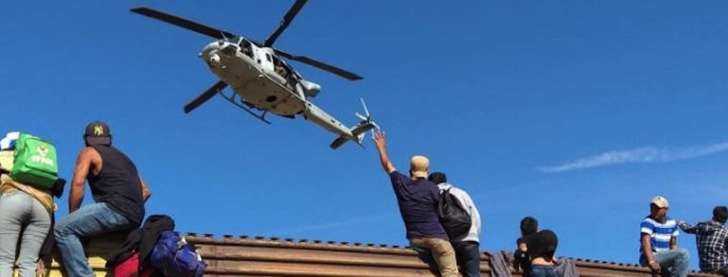Border Patrol lanza balas de goma a Caravana Migrante para contenerla