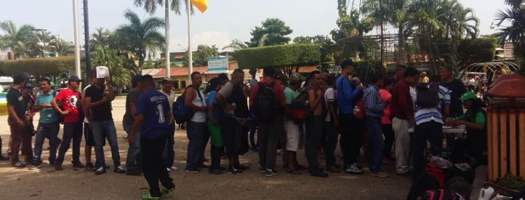 Cuarta Caravana continúa su marcha hacia México