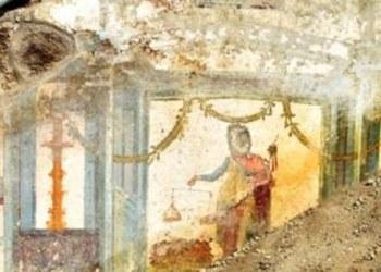 Encuentran fresco con personajes mitológicos en ruinas de Pompeya 1