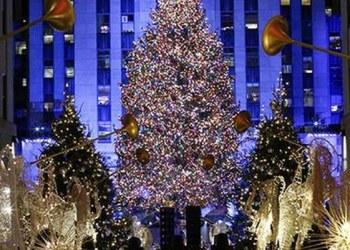 Encienden en EU el icónico árbol de Navidad de Rockefeller 8