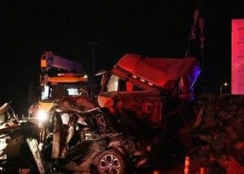 Carambola de vehículos deja 15 muertos y 44 heridos en China 1