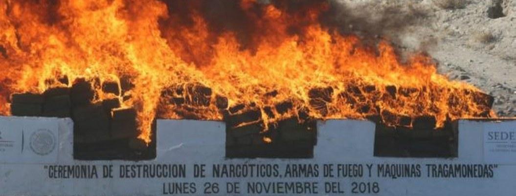 PGR destruye 12 toneladas de drogas y máquinas tragamonedas en Tijuana