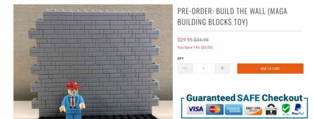 Lanzan juguete armable para construir muro fronterizo de Trump