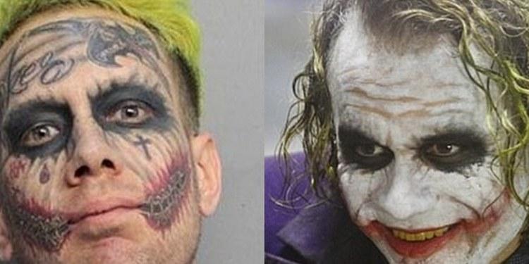 """Lo apodan """"The Jocker"""" por tatuajes y cabello 1"""
