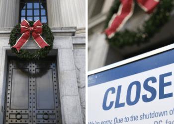 """Gobierno de EU continuará en """"huelga"""" hasta Navidad 2"""