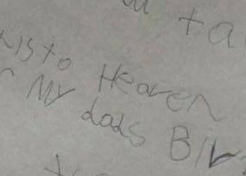 Niño de 7 años envía carta de felicitación a su padre hasta el cielo 1