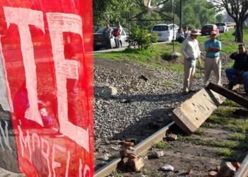 CNTE vuelven a bloquear vías del tren en Michoacán 2