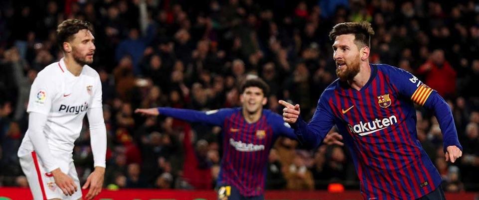Barça vapulea al Sevilla 6-1 y lo baja de la nube de la Copa del Rey
