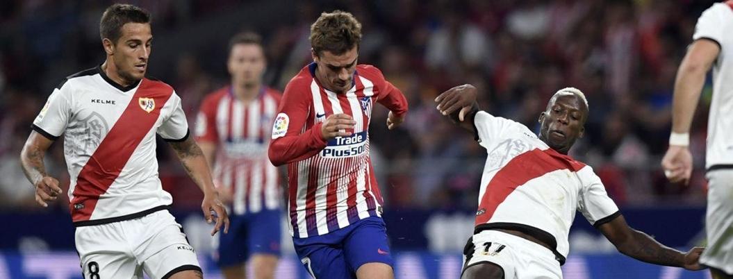 Atlético de Madrid vence por la mínima al Rayo Vallecano