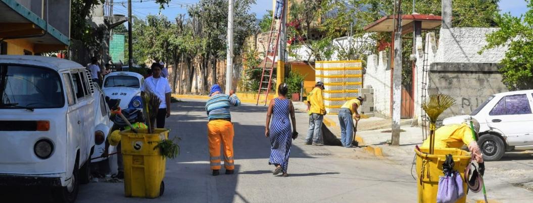Ciudadanía se involucra en brigada de mantenimiento urbano de Acapulco