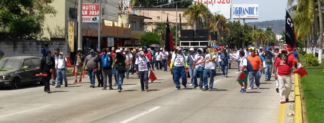 CETEG exige justicia por el asesinato del maestro Claudio Castillo