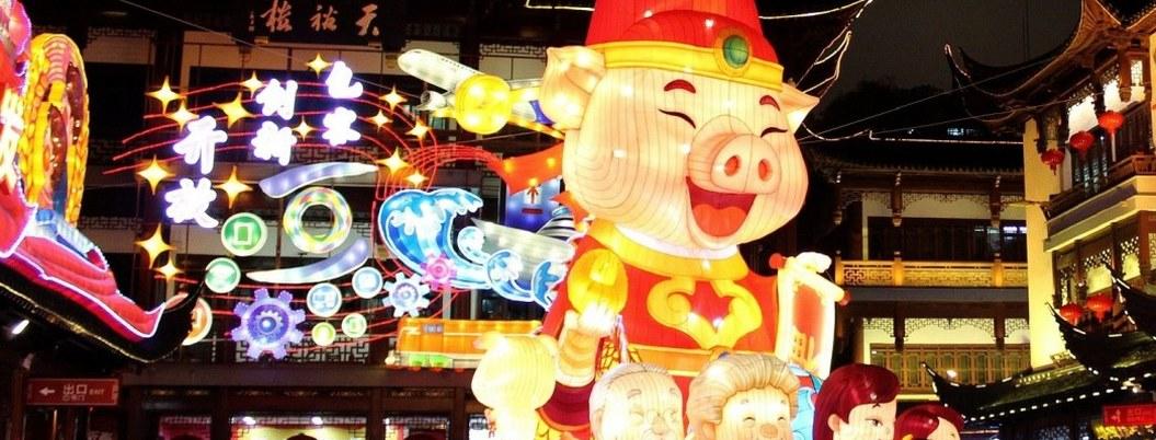 Chinos dan bienvenida al año cerdo de la fertilidad y abundancia