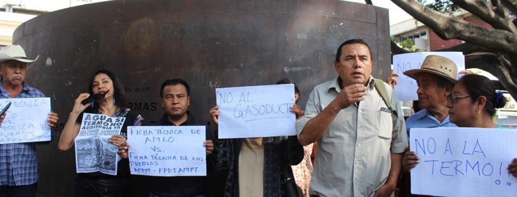 Pobladores se oponen a consulta sobre termoeléctrica de Huexca