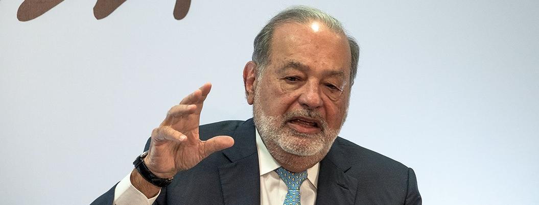 Le dejaron una situación difícil, defiende Slim a López Obrador