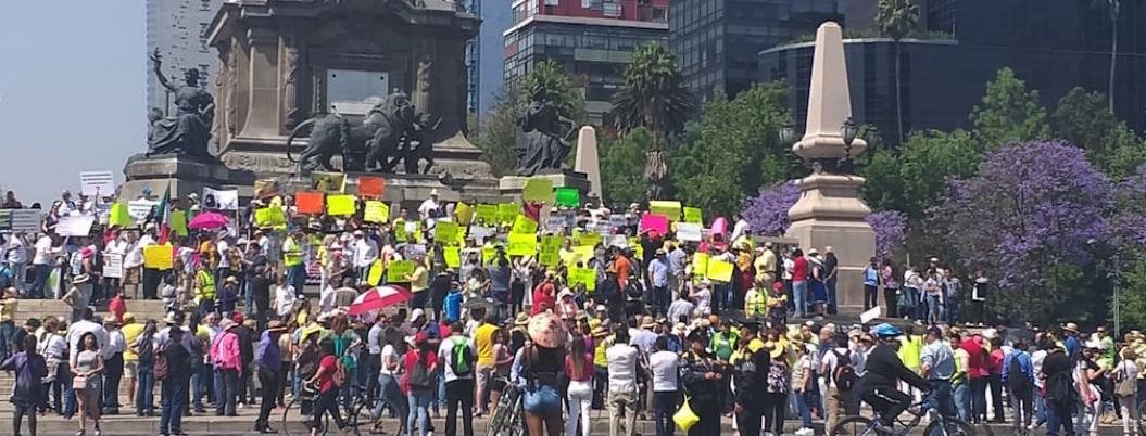 Realizan protestas contra AMLO en varios estados del país