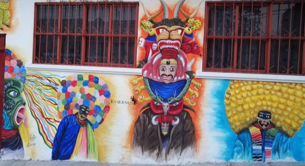 Jóvenes pintan murales en Chilpancingo para combatir la violencia 2