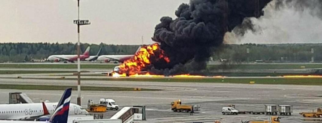 Rayo, posible causa del accidente de avión en Moscú