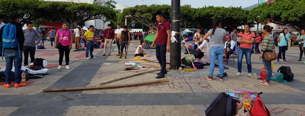 CNTE Chiapas acepta la tregua de AMLO; levanta plantón