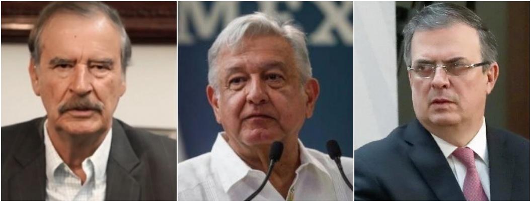 """Fox llama """"sordos complacientes"""" a AMLO y Ebrard por Venezuela"""