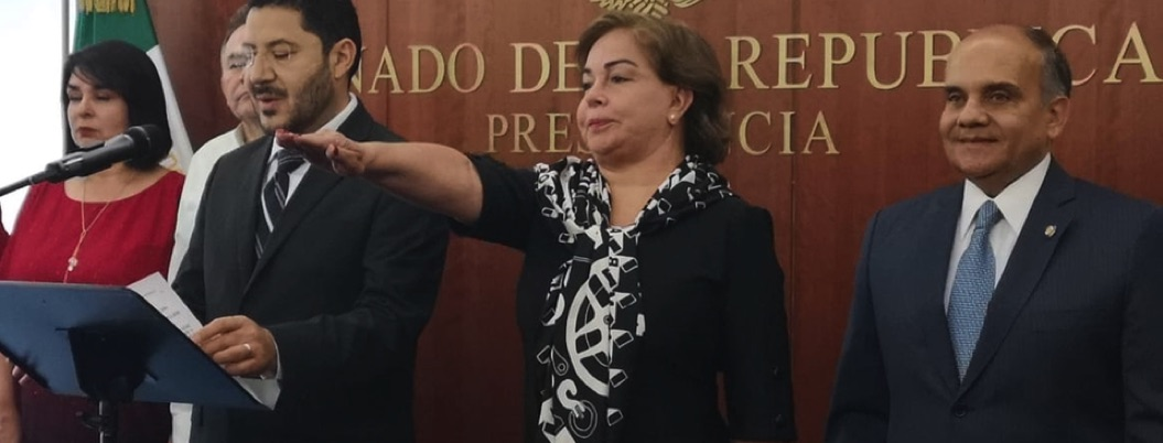 Hermana de Subcomandante Marcos cubre curul de Ruiz Massieu en Senado