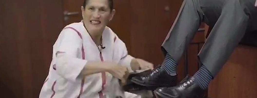 Jesusa bolea zapatos y celebra al PAN por luchar por paridad de género