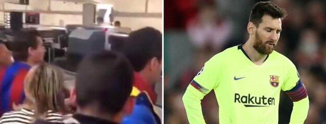 Aficionados reprochan a Messi en aeropuerto por derrota ante Liverpool
