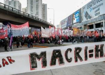 huelga contra Macri