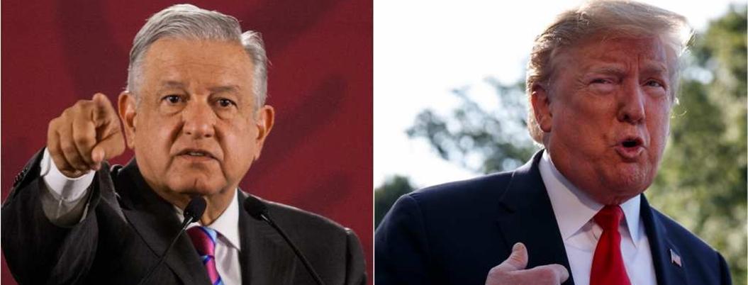 Responde AMLO a Trump: guerra contra el narco no es opción