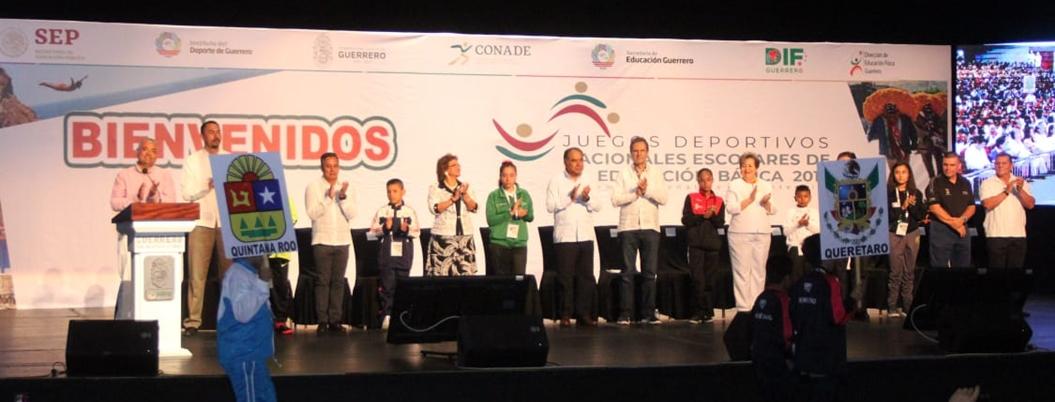 Adela presencia inauguración de Juegos Deportivos Nacionales Escolares