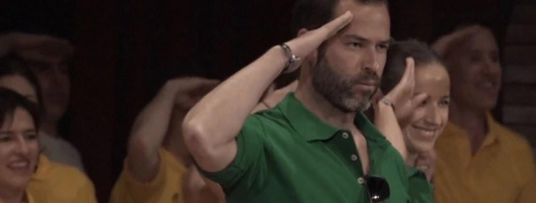 Emiliano Salinas aparece en video festejando al líder de Nxivm