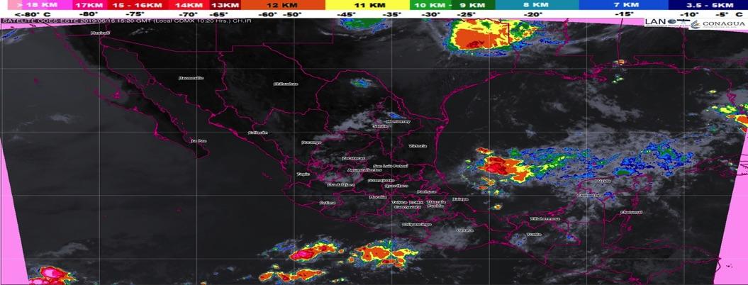 Pronostican chubascos y tormentas en gran parte del país
