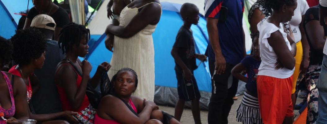 Migrantes africanos y haitianos protestan por malos tratos en Chiapas