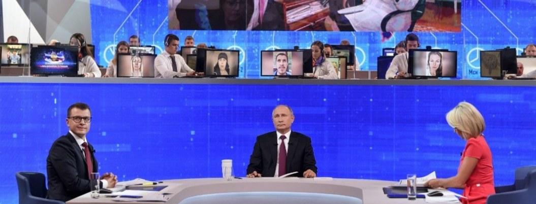 Putin denuncia ciberataque cuando realizaba programa de tv en vivo