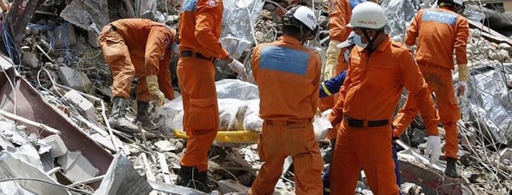 Derrumbe edificio en Camboya mata 17 personas