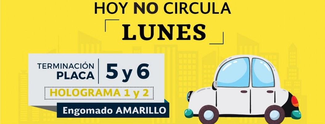 Hoy no circulan vehículos con holograma 1 y 2 y engomado amarillo