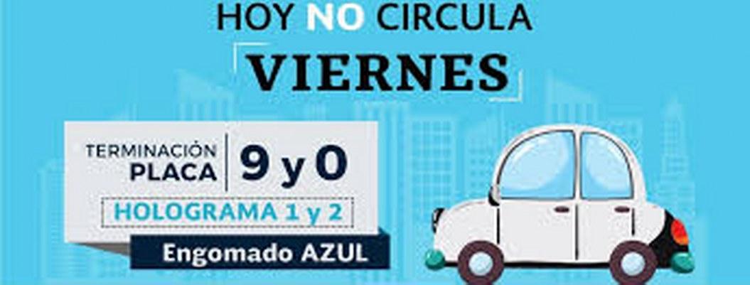 Hoy no circulan autos con engomado azul y terminación de placas 9 y 0