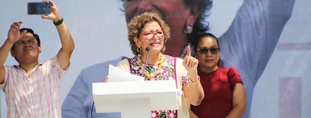 Adela presionará para aprobación de Ley Olimpia