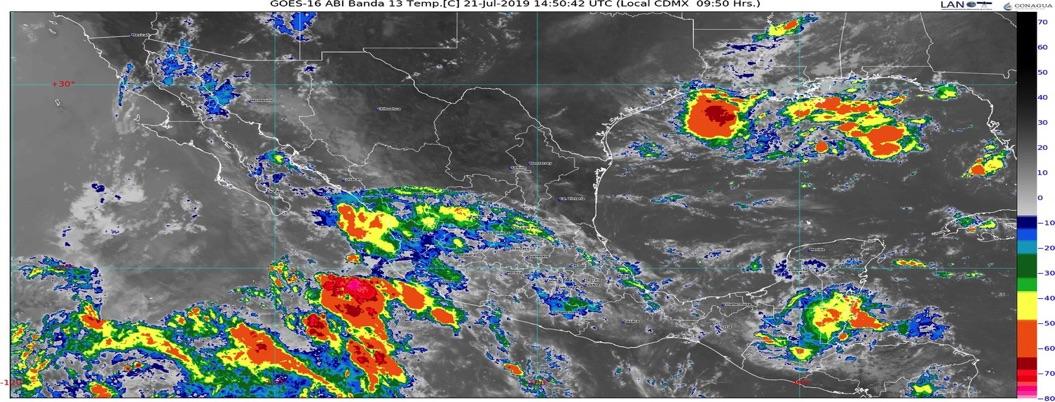 Pronostica lluvias y tormentas acompañadas de granizo en todo el país