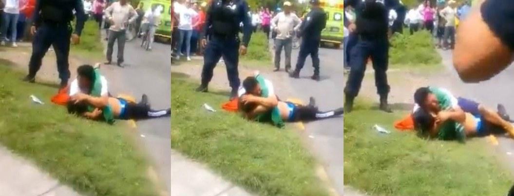 Tras tiroteo padre llorá junto el cuerpo de ladrón tendido; era su hijo