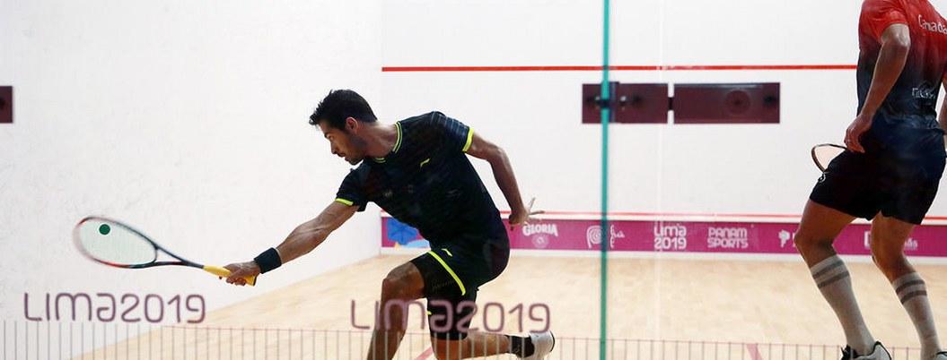 Mexicano Arturo Salazar es semifinalista en squash de Lima 2019