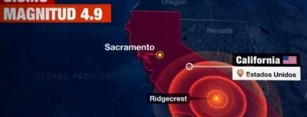 Nuevo sismo de 4.9 sacude a California este viernes