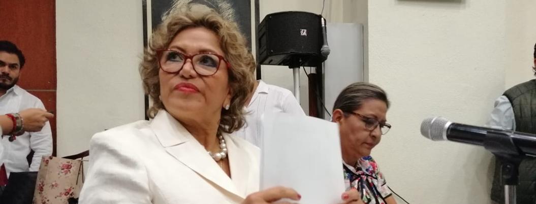 """""""Desaparición de los 43 es una página negra de Guerrero"""": Adela Román"""