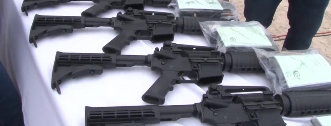 Armas estadunidenses participan en el 70% de los homicidios en México